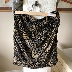 Brand new Soaked in Luxury leopard skirt